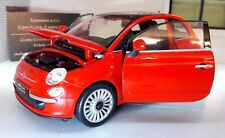 LGB G Scale 1:24 Fiat 500 2007 1.2 Rouge TwinAir Welly Voiture Miniature 22514