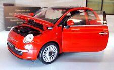 LGB G Scala 1:24 Fiat 500 2007 1.2 Rosso TwinAir Welly Automodello Metallo 22514