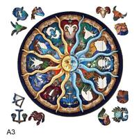 Wooden Jigsaw Puzzles For Adults Children DIY Zodiac Wooden Puzzle Gift