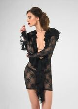 "Patrice Catanzaro ""OLYMPIA"" Black Lace Dress / Robe Noire / Jurk Zwarte - MEDIUM"