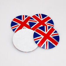 4X 56mm Car Wheel Center Hub Caps England Britain UK Flag Decal Sticker For MINI