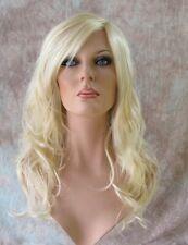 Light Blonde Long Wig Side Skin Part Gentle Waves Forever Young WSHH