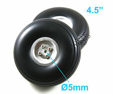 "1 Pair of 4.5"" Light Weight RC Plane PU Wheels, Aluminum Alloy Hub, US 006-04014"
