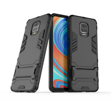Xiaomi Redmi Note 9s Black Slim Full Body Drop Protection Phone Case Cover Stand