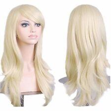 UK Post Ladies Women Long Full Wig Cosplay Christmas Party White Red New Wigs AV