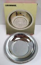 Vintage Irvinware Chromeware Candy & Nut Dish in Original Box #2160