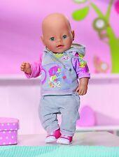 Zapf Creation Baby born Deluxe Joggin Set 821053 grau Spielzeug #brandtoys