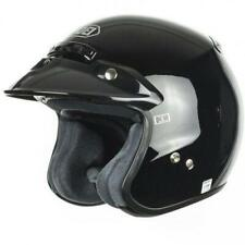 SHOEI RJ PLATINUM MOTORCYCLE HELMET - 3/4 STYLE OPENFACE ADULT XS GLOSS BLACK