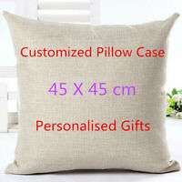 45*45cm Customized Pillow Case Photo Printed Cushion Cover Personalised Gifts