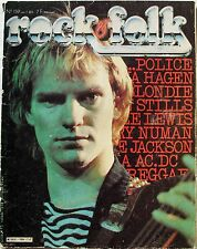 Rock Folk 159 POLICE AC/DC JOE JACKSON GARY NUMAN NINA HAGEN METAL URBAIN