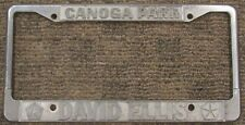 RARE Canoga Park David Ellis Chrysler Dealership Metal License Plate Frame Tag