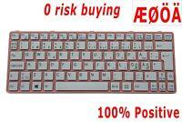 For Sony SVE11 SVE1111M1E SVE1112M1E SVE1113M1E Keyboard Nordic Swedish Norsk DK
