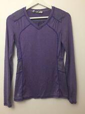 Athleta Northern Lights Reflective Long Sleeve Top Purple Heather Size XXS