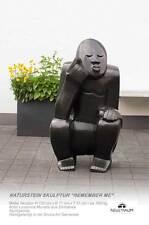 """Riesige Naturstein Gorilla Affen Skulptur """"Remember me"""" Zimbabwe.H130 cm ≈500 kg"""