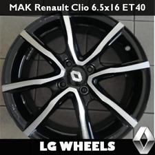 Cerchio in Lega MAK Milano4 per Renault Clio 6.5x16 ET40 4x100 Nuovo + Coppetta
