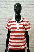 RALPH LAUREN ACTIVE Polo Maglia Donna Taglia L Shirt Camicia Cotone a Righe