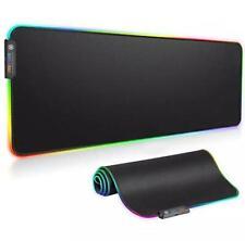 RGB Luminous Gaming Mouse Pad Colorful Oversized Glowing USB LED