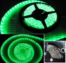 Rotolo 5 metri led verde 12V.Striscia + adesivo 5m.300 led verdi.Impermeabile IP