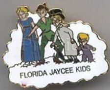 Disney Peter Pan Wendy Michael, Wendy, John Florida full body Jaycees pin/pins