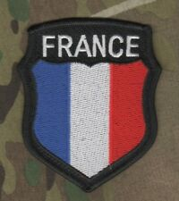 TALIZOMBIE© WHACKER NATO ALLIED COALITION OPERATOR Iron-on FLAG: FRANCE Shield