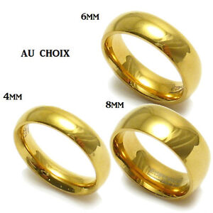 BAGUE ANNEAU ALLIANCE FIANÇAILLE MARIAGE HOMME FEMME ADO EN PLAQUE OR RING NEUF