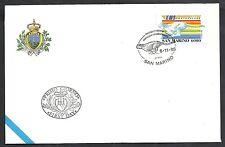 1995 SAN MARINO FDC EMS POSTA CELERE - RSM7