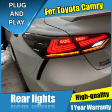 For Toyota Camry Dark / Red LED Rear Lamps Assembly LED Tail Lights 2018