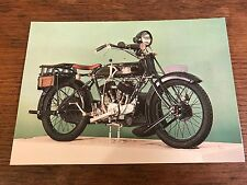 Vintage 1925 800cc AJS Model E1 National Motorcycle Museum Postcard