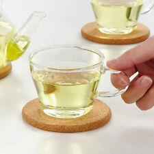 6Pcs Cork Wood Drink Coaster Tea Coffee Cup Mat Table Decor Bottle Tableware
