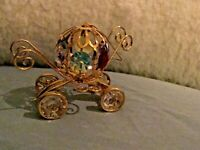 CINDERELLA COACH ~24K GOLD PLATED With*~AUSTRIAN CRYSTALS