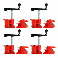 "4 Pack 3/4"" Wood Gluing Pipe Clamp Set Heavy Duty PRO Woodworking Cast Iron FOUR"