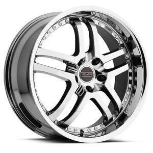 """Milanni 9012 Kapri 22x9 5x4.5"""" +20mm Chrome Wheel Rim 22"""" Inch"""