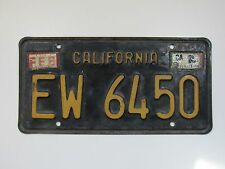 DMV CLEAR Black California Vintage Trailer License Plate Metal Embossed Tag YOM