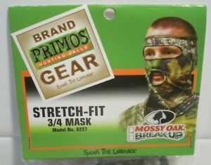 Primos Stretch Fit Mossy Oak Break Up Camo Camouflage 3/4 Mask 6227
