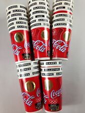 Coca Cola 1996 Olympic Games Cups Lot of 25 Sports Hologram Seal 32oz VTG 90s