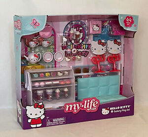 """My Life As Hello Kitty 44 pc Bakery Play Set with RED Accents for 18"""" Dolls NEW!"""