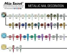 NEW !!! Mia Secret Nail Decoration Metallic Flakes  2g - PICK ANY FROM 28 COLORS