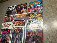 LOT of 15-IMAGE Comics SPAWN Blood Feud, Spawn, Ripclaw, Deathblow, The Maxx