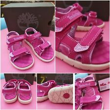 Timberland Toddlers Sandals Pink Perkins Row 2-Strap Kids Summer Shoes size 7