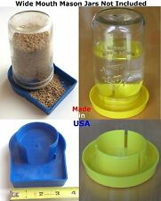 USA 1pk Chick Feeder & 1pk Drown Proof Waterer Poultry Fowl Chicken Quail Feeder
