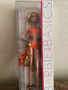 Rare 2011 Barbie Basics Collection 003 Model No. 07 NRFB Swimsuit Black Label