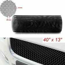 Aluminum Mesh Grill Universal Car Front Bumper Rhombic Grille Mesh Sheet Black