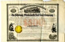 1856.   Pittsburg, PA.   $500 Pittsburg & Steunbenville Railroad Bond