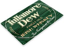"TIN SIGN ""Tullamore Dew Irish Whisky"" Store Brew Beer Liquor Shop Bar Pub A658"
