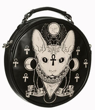 Banned Bastet Egyptian Cat Siamese Sphynx Occult Illuminati Round Shoulder Bag