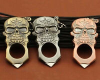 Metal Skull Refillable Cigarette Lighter Jet Flame Cigar Lighter W/Self-defense