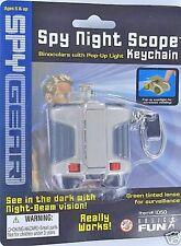 Spy Gear NIGHT SCOPE Keychain Keyring miniature Binoculars w/ light Basic Fun