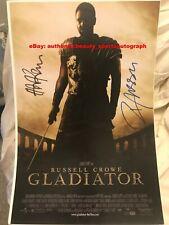 Gladiator Ridley Scott Hans Zimmer Russell Crowe Oscar Win Signed 12x18 Reprint