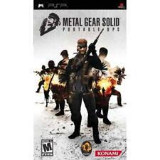 Metal Gear Solid Portable Ops Sony For PSP UMD 0E