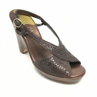 Women's Cole Haan Air Slingback Sandals Shoes Size 8.5B Brown Woven Leather C7